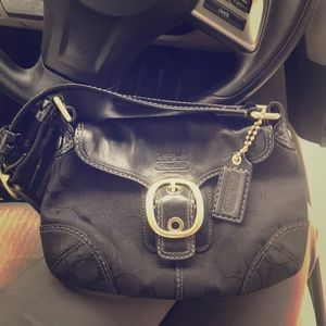 Coach purse leather/nylon. New. Dust bag included